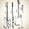 Fender Precision Bass Patent 1952 by Bill Cannon