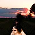 Fenland Sunset by Stephen Elsworth