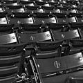 Fenway Park Red Bleachers Bw by Susan Candelario