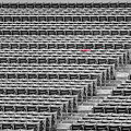Fenway Park Red Chair Number 21 Bw by Susan Candelario