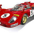 Ferrari 512 Illustration by Alain Jamar