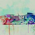 Ferrari Testa Rossa Watercolor 2 by Naxart Studio