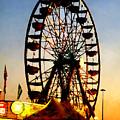 Ferris Wheel At Night by Susan Savad