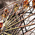 Ferris Wheel At Sunset by Jeelan Clark