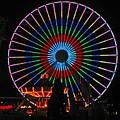 Ferris Wheel In Wildwood New Jersey by Denise Keegan Frawley