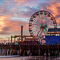 Ferris Wheel On The Pier by Gene Parks