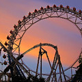 Ferris Wheel Sunset by Eena Bo