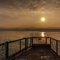 Ferry Boat Sunrise by Rod Best
