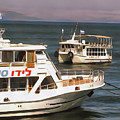 Ferry Boats On Sea Of Galilee by Brian Tada