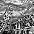 Ferry Building Black  White by Blake Richards