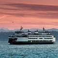 Ferry Cathlamet At Dawn.1 by E Faithe Lester