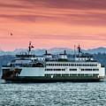 Ferry Cathlamet At Dawn.2 by E Faithe Lester