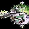 Ferry In Fractal by Tim Allen