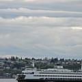 Ferry In Seattle Washington by Carol  Eliassen