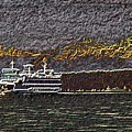 Ferry On Elliott Bay 3 by Tim Allen