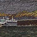 Ferry On Elliott Bay 3 by Tim Allen