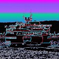 Ferry On Elliott Bay 4 by Tim Allen