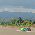 Ferry On The Chindwin 2 by Werner Padarin