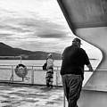 Ferry Passengers by Mario Traina