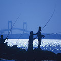 Ferry Road Fishermen by Jim Beckwith