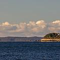 Ferry To Martha's Vineyard Passes Nobska Light by Jim Hayes