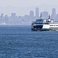 Ferry Versus Kayaker by Chad Davis