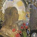 Fertility. Woman In Flowers by Odilon Redon