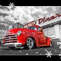Festive Chevy Truck by Gill Billington
