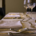 Festive Table Setting For A Formal Dinner  by Oren Shalev