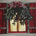 Festive Window by Kim Selig