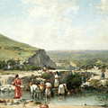 Fetching Water. Algeria by Victor-Pierre Huguet
