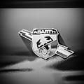 Fiat Abarth Emblem -ck1611bw by Jill Reger