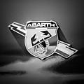 Fiat Abarth Emblem -ck1611bw2 by Jill Reger