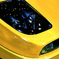 Fiat Coupe In Yellow by Andre Elista