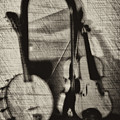 Fiddle And Mandolin Banjo by Bill Cannon