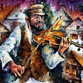 Fiddler From The Sky by Leonid Afremov