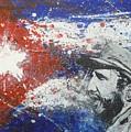 Fidel Castro Cuban Flag by William McCann
