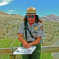 Field Archeologist Ranger In Quarry In Dinosaur National Monument, Utah  by Ruth Hager