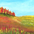 Field In Autumn by Vivian  Mosley