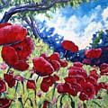 Field Of Poppies 02 by Richard T Pranke