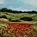 Field Of Poppies by Elizabeth Robinette Tyndall