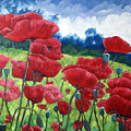 Field Of Poppies by Richard T Pranke