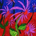 Field Of Purple Flowers by Elinor Helen Rakowski
