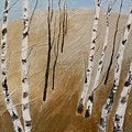Field With Birches by Maria Karalyos