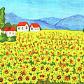Field With Sunflowers by Irina Afonskaya