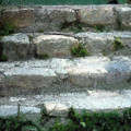 Fieldstone Stairs New England by RC DeWinter