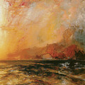 Fiercely The Red Sun Descending Burned His Way Along The Heavens by Thomas Moran