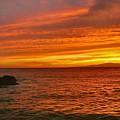 Fiery Makena Sunset by Stephen  Vecchiotti