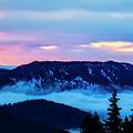 Fiery Sunrise From Mt. Hood by Bruce Block