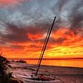 Fiery Sunset by John Loreaux